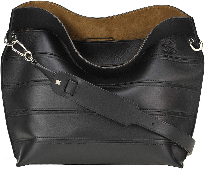Loewe Strip Leather Bag Woman