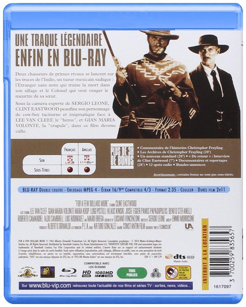 Sergio Leone : La trilogie du dollar : Pour une poignée de dollars + Et pour quelques dollars de plus + Le bon, la brute et le truand Blu-ray: Amazon.es: Clint Eastwood,