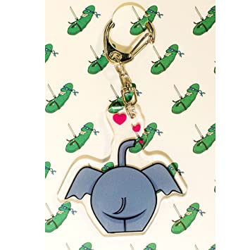 Amazon.com: Ninja Pickle Studios Elephant Behind and Hearts ...