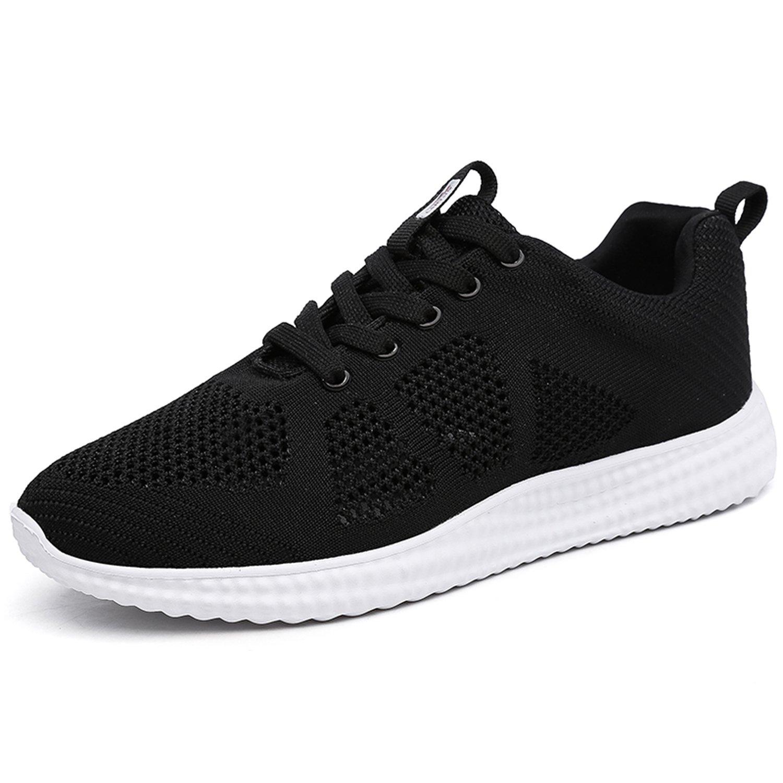 YOLE Women's Lightweight Sneakers Breathable Athletic Mesh Running Shoes Sports Tennis Walking Shoes Gym Black 8 (B) M US/39 M EU