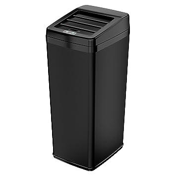 ITouchless Sliding Lid Automatic Touchless Sensor Trash Can U2013 14 Gallon /  52 Liter U2013 Black