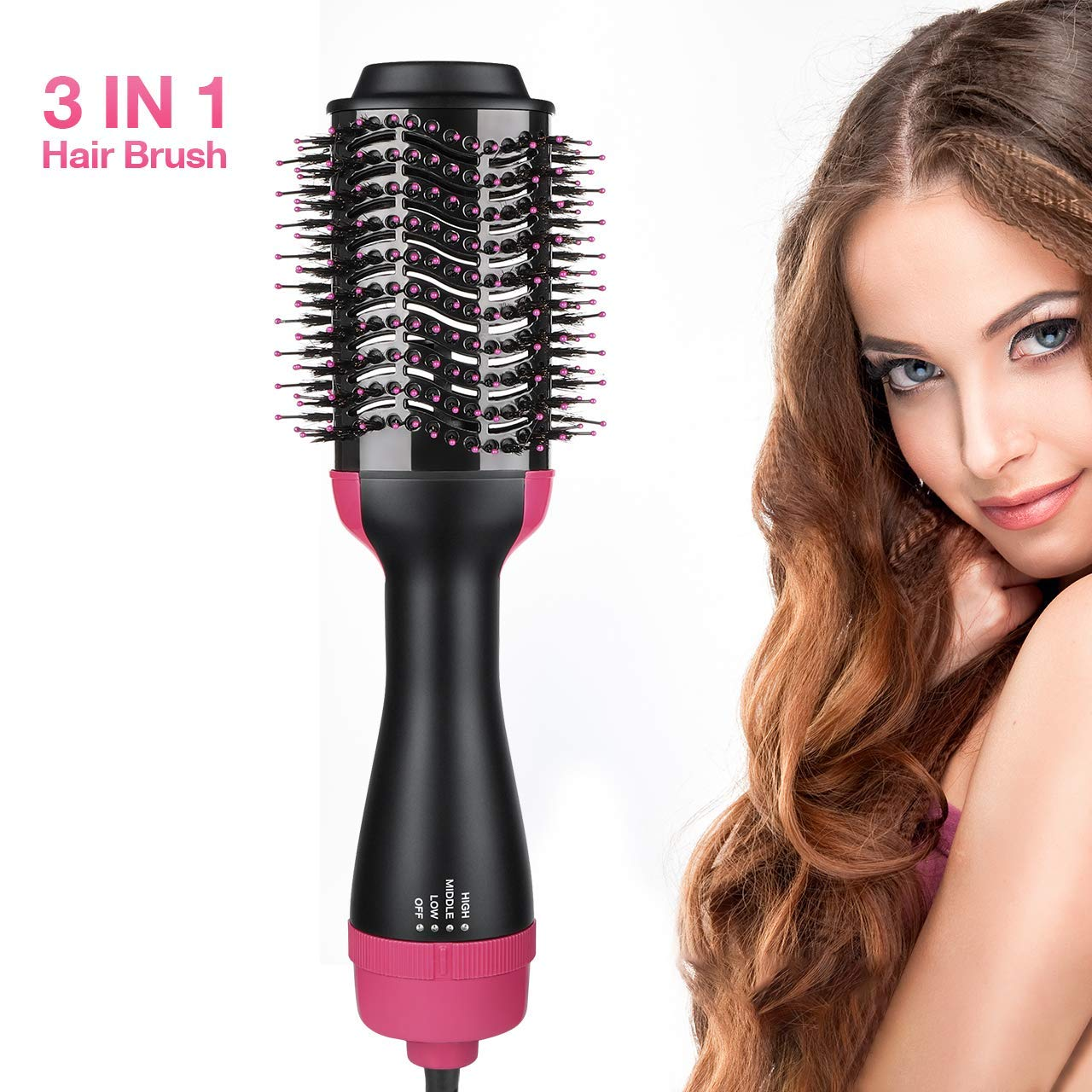 JIACHAN One Step Hair Dryer and Volumizer, Hair Dryer Brush for Women Men and Straightener Curling Iron Brush Fast Hair Styling for All Hair Type with 2 Speed Plus Cool Setting