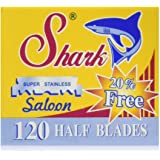 120 Shark Super Stainless Straight Edge Barber Razor Blades for Professional Barber Razors