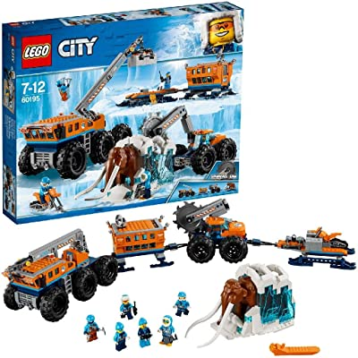 LEGO City Arctic Mobile Exploration Base Toy, Crane Vehicle Platform & Trailer, Construction Toys for Kids: Toys & Games