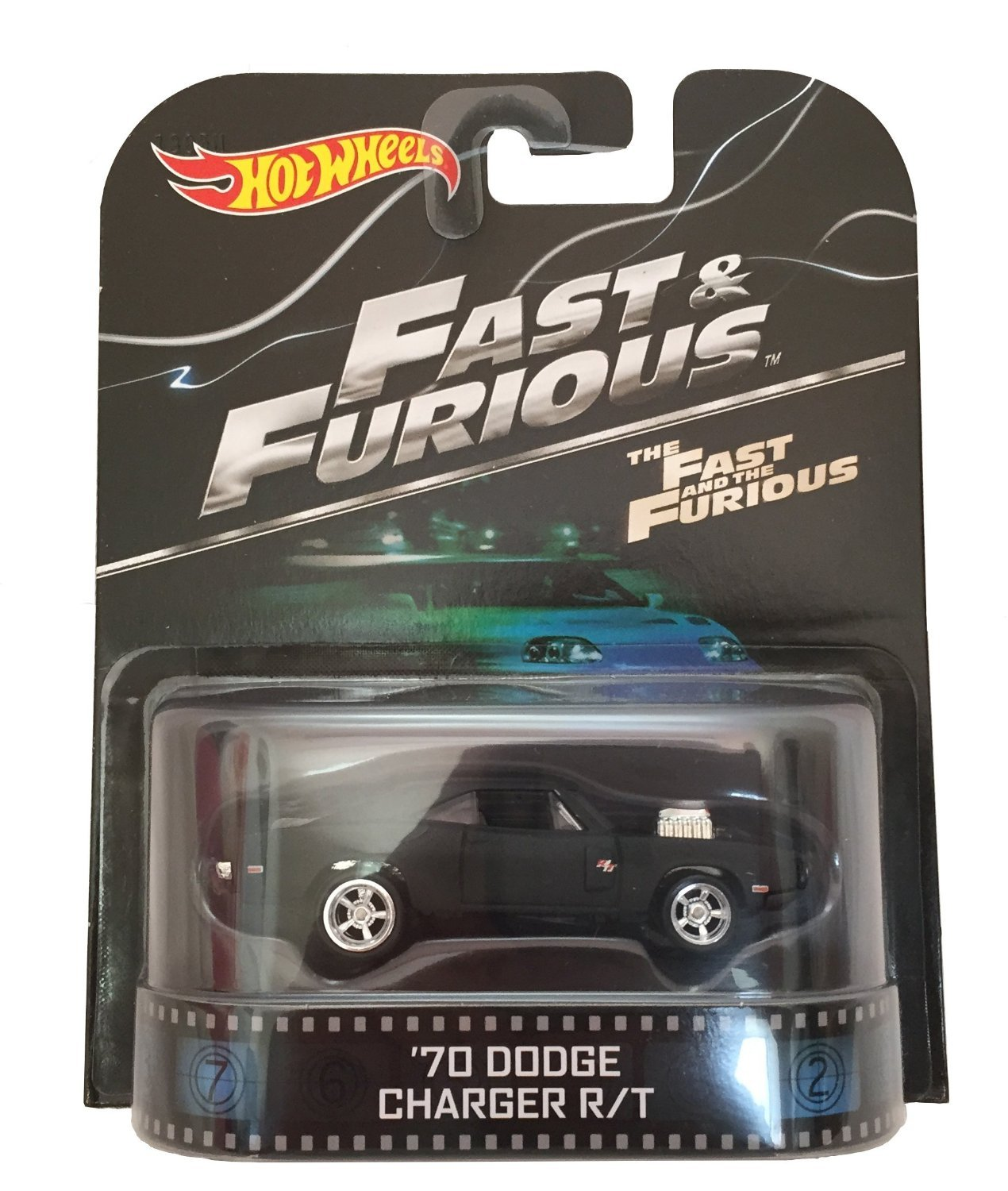 "'70 Dodge Charger R/T ""Fast & Furious"" Hot Wheels 2015 Retro Series 1/64 Die Cast Vehicle"