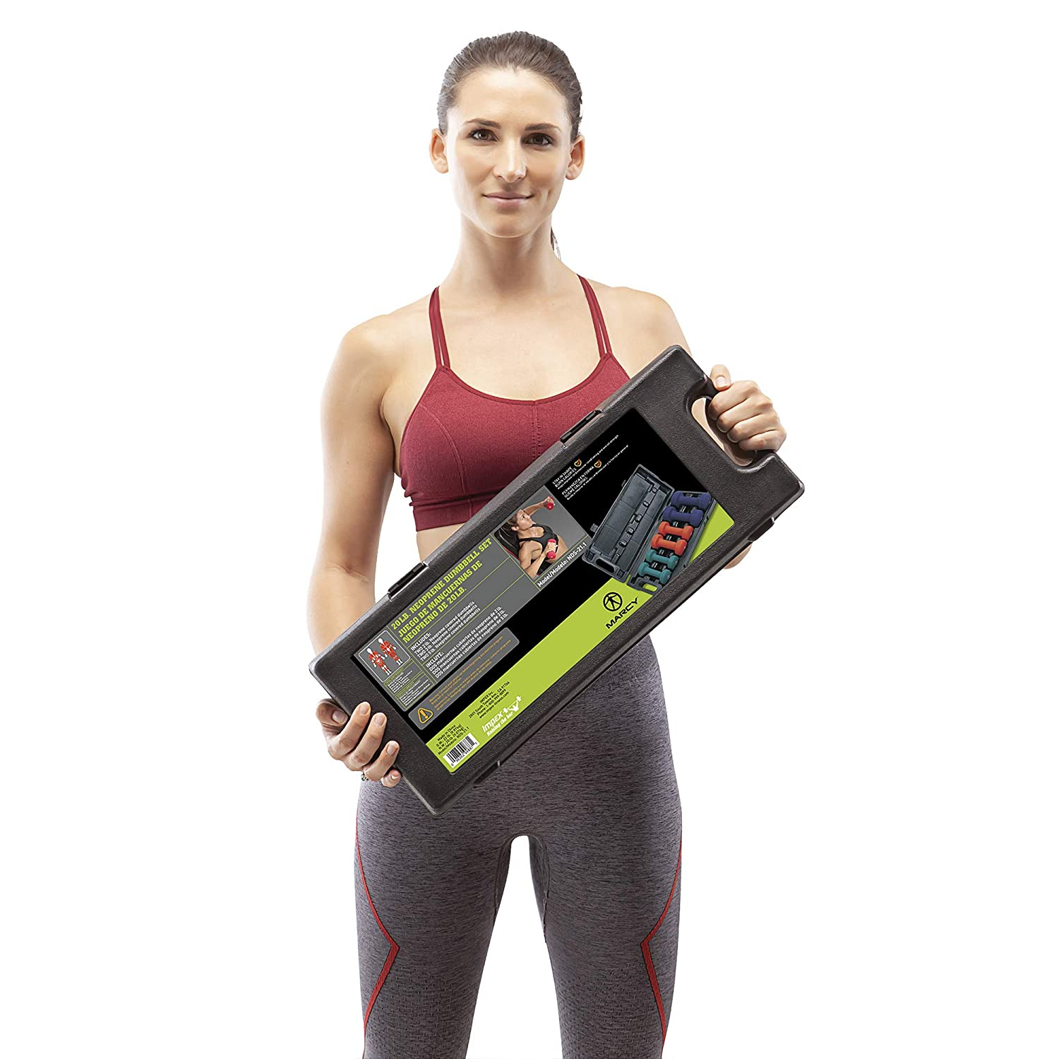 Marcy Neoprene Dumbbell Set 3 Pairs with Carrying Case NDS-21.1