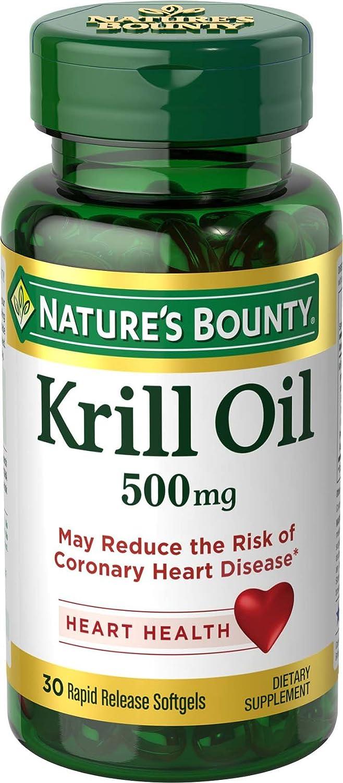 Nature's Bounty Krill-500 mg Oil, 30 Softgels