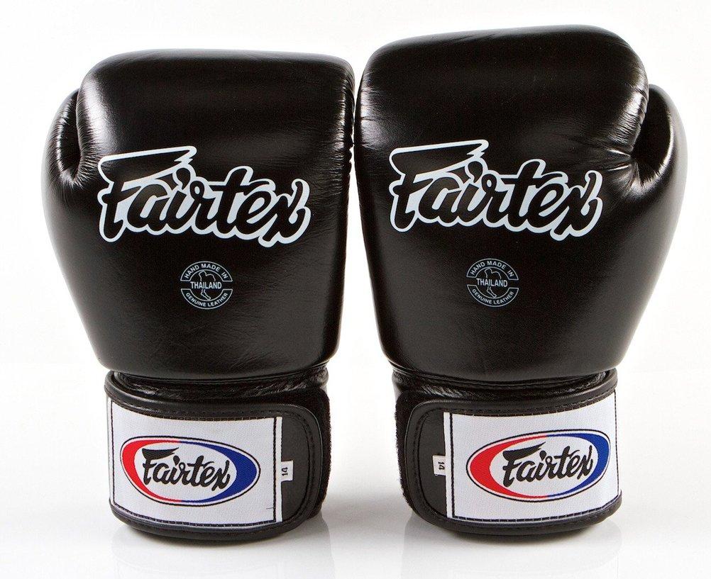 Muay Thai Fairtex Boxing gloves BGV5 Black//White Color MMA Sparring gloves for Kick Boxing Super Sparring Gloves Size: 12 14 16 oz