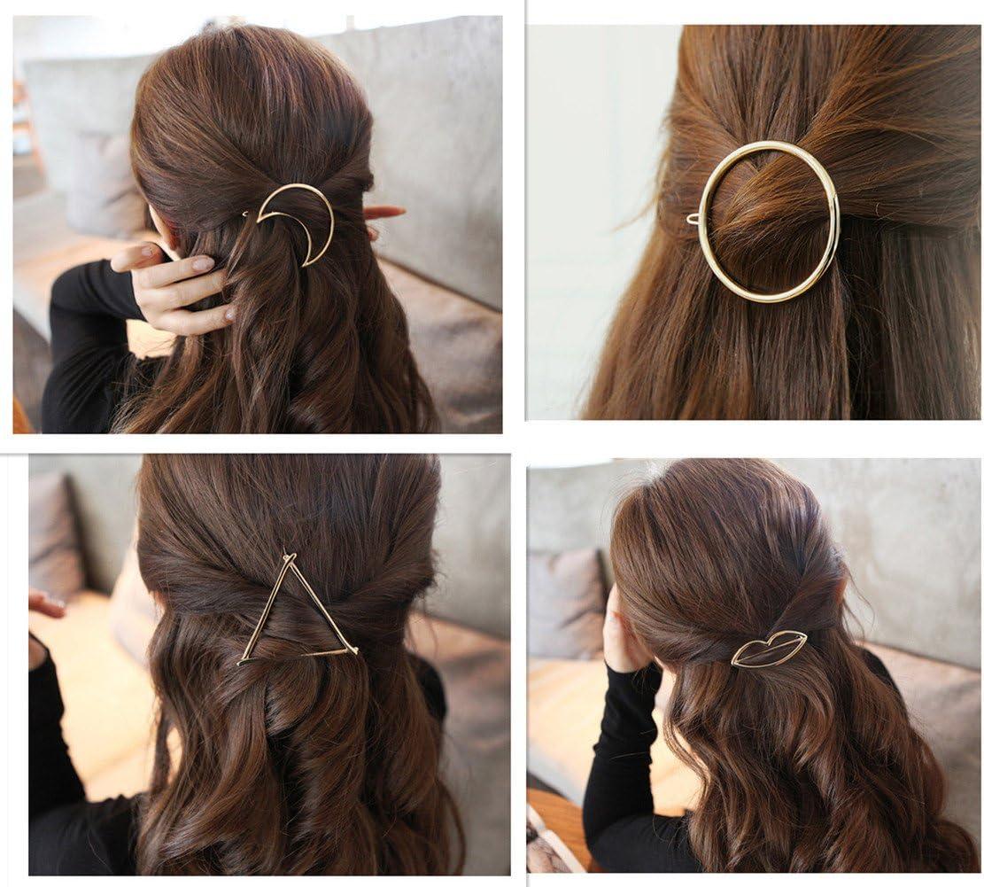Moon Circle Wedding Jewellery party wear Fashion Geometric Triangle Hair Clip