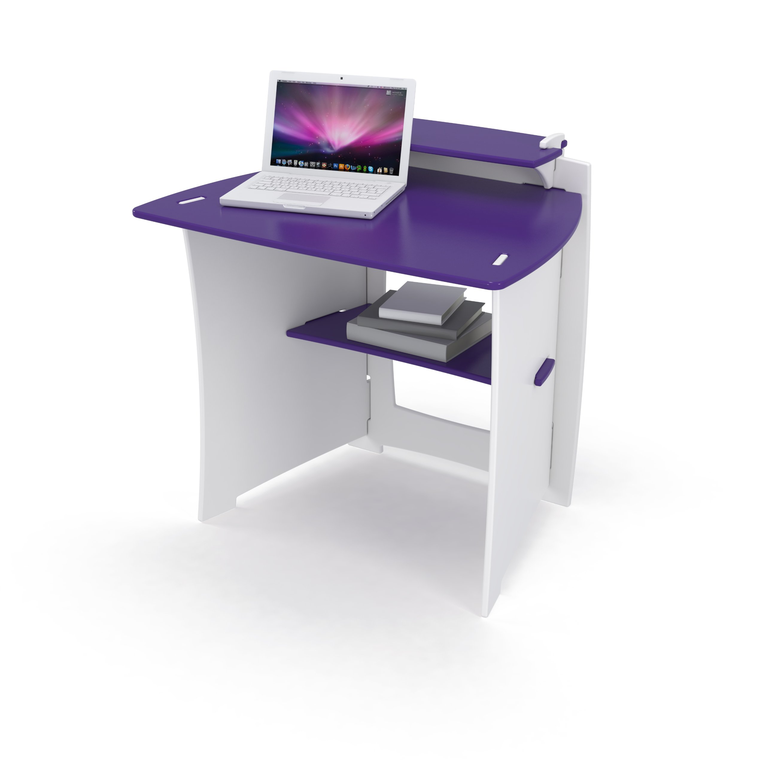Legare 34-Inch Kids' Desk, Purple and White