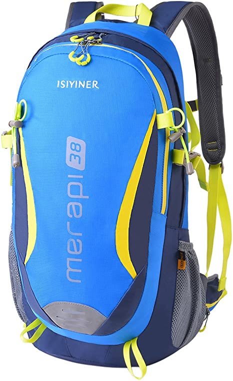 ISIYINER Hiking Rucksack 30L Waterproof Lightweight Trekking Backpack Breathable for Travel Climbing Cycling Camping Outdoor Sports