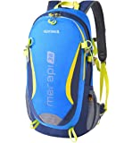 38L Hiking Backpack ISIYINER Trekking Rucksack Sport Travel Daypack Nylon Men Women Water Repellent YKK Zipper Mountaineering Bags with Rain Cover for Exploring Climbing Cycling Adventure