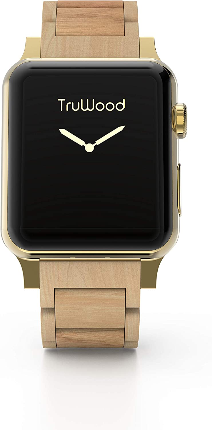 TruWood Everyday Wooden Watch Band Compatible with Apple Watch 38mm 40mm Women Men, Strap for iWatch Series 6, Series 5, Series 4, Series 3, Series 2, Series 1 (Maple Wood, 38/40mm)