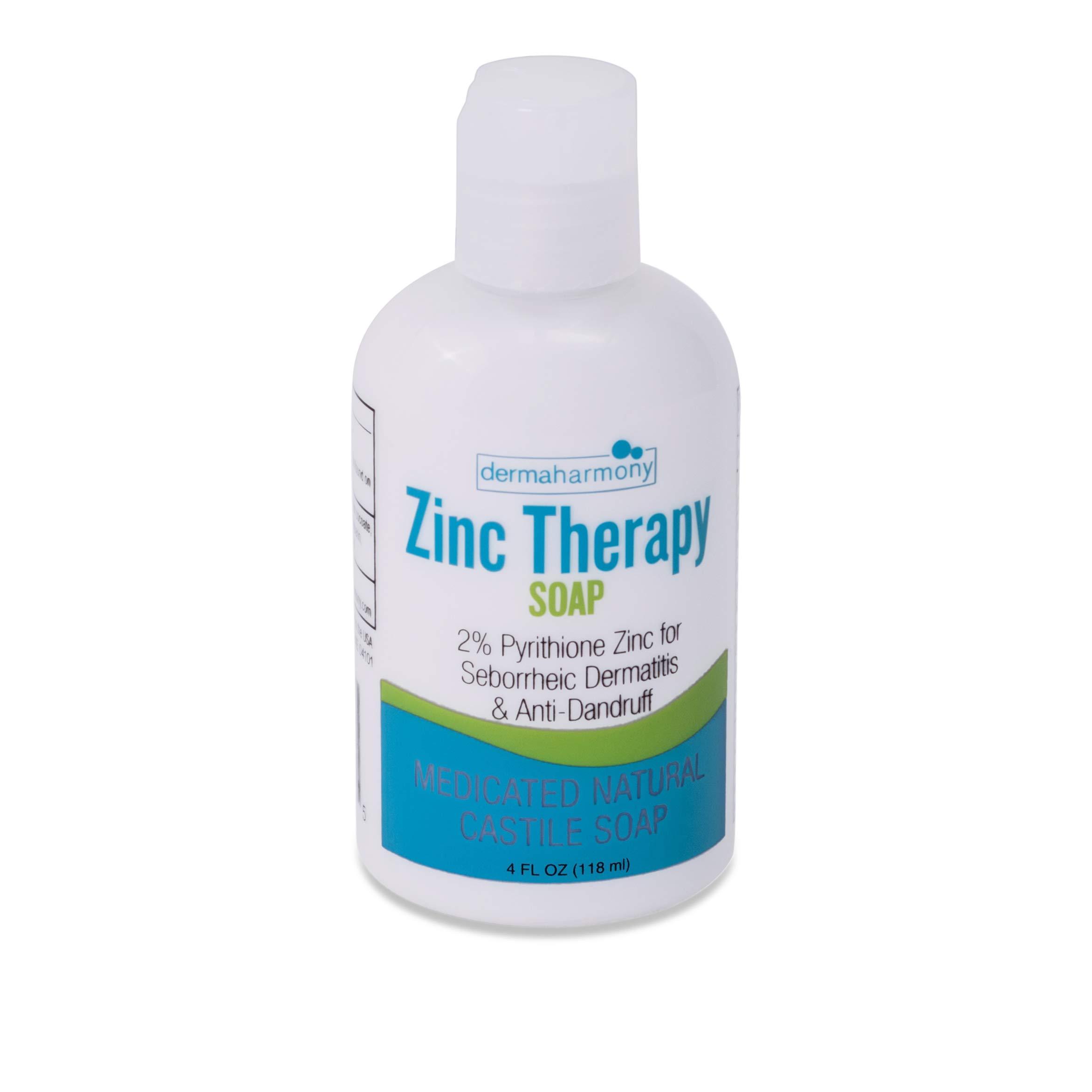 Amazon.com: DermaHarmony 2% Pyrithione Zinc (ZnP) Liquid Castile Soap (4 Fl  Oz Bottle): Beauty