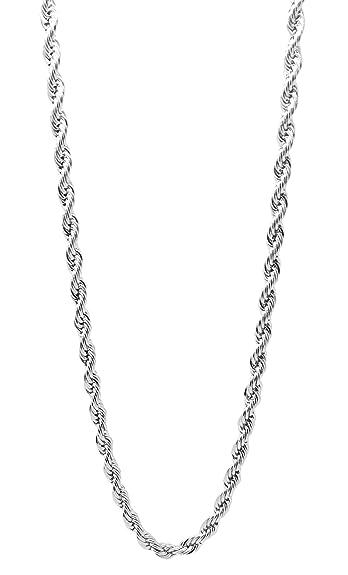 Amazon.com: 5 mm Cuerda Cadena De Acero Inoxidable para los ...