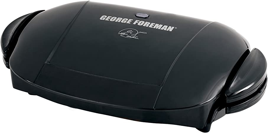 Blue Black and 12207 Cleaning Sponge Pack of 2 George Foreman 18870 Five Portion Family Grill