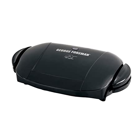George Foreman 5-Serving Removable Plate Electric Indoor Grill and Panini Press, Black, GRP0004B