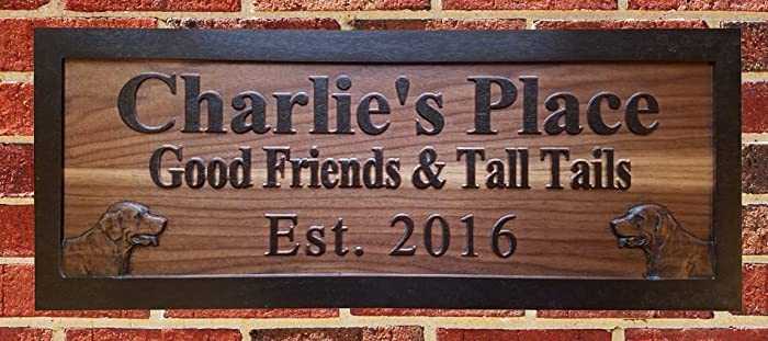 Custom Wood Bar Sign Home Pub And Beer Signs For Basement And Patio Bars Carved Wooden