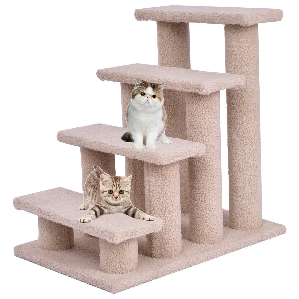 TANGKULA Pet Stairs Ramp for Cats and Dogs Cat Climber Kitten Steps