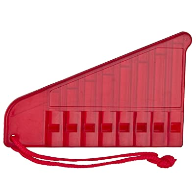 Woodstock Chimes Kid's Pan Flute Musical Instrument, Red: Toys & Games