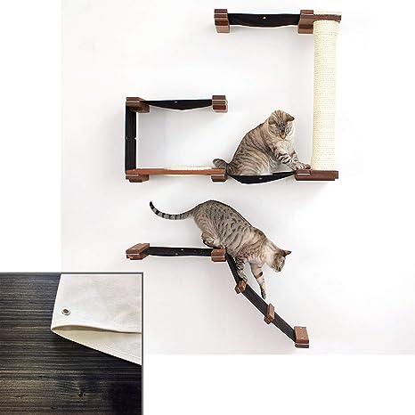 CatastrophiCreations Cat Mod Deluxe Fort - Estantes de Pared para árbol de Gatos, Ónix y