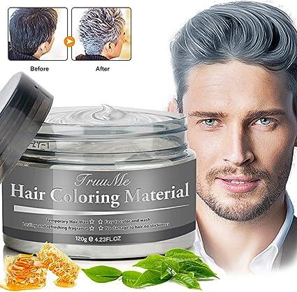 Tinte para el pelo, color gris, cera temporal para el pelo, cera natural para disfraces y fiestas