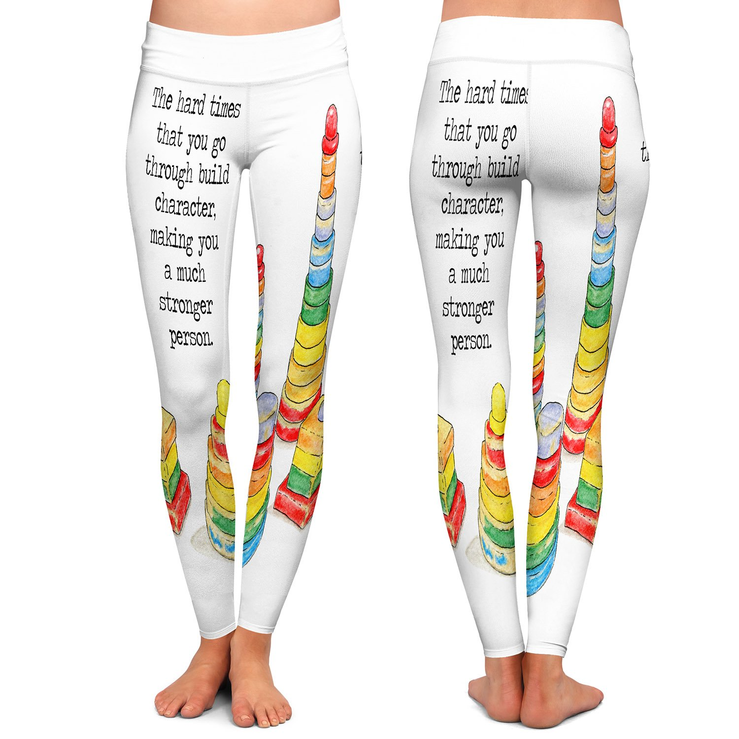 Toys Stacking Rings Character Athletic Yoga Leggings from DiaNoche Designs Marley Ungaro