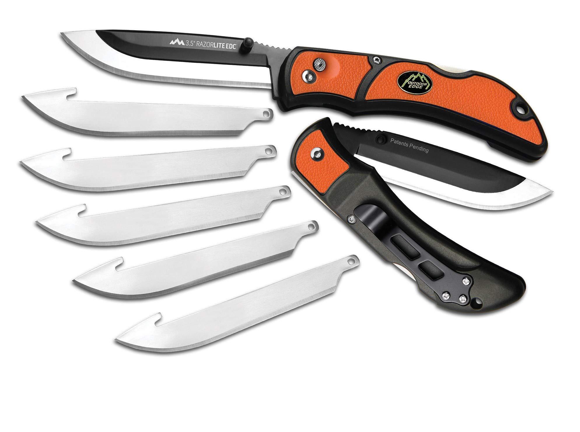 Outdoor Edge Razor-Lite EDC Folding Knives (3.5 - Inch, Orange) by Outdoor Edge