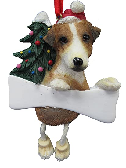 """Jack Russell Ornament with Unique """"Dangling Legs"""" Hand Painted  and Easily Personalized Christmas - Amazon.com: Jack Russell Ornament With Unique"""
