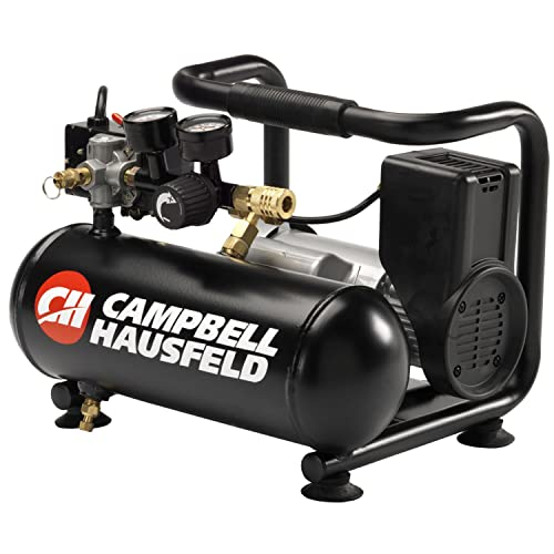 Campbell Hausfeld Air Compressor, 1-Gallon Horizontal Oilless 0.7 CFM 0.5HP 120V 4A CT100100AV