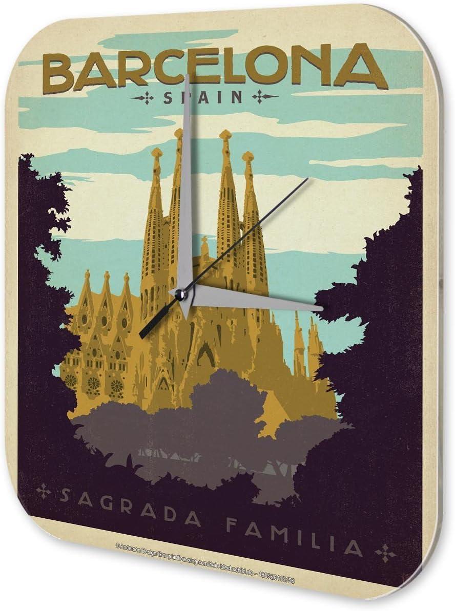 Reloj De Pared Pasión Viajes City España Barcelona Sagrada Familia Plexiglas: Amazon.es: Hogar