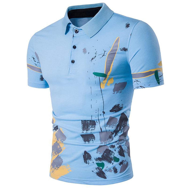 love enjoy 2019 Fashion Leisure Mens Polo shirtshort Sleeve Polo Shirt