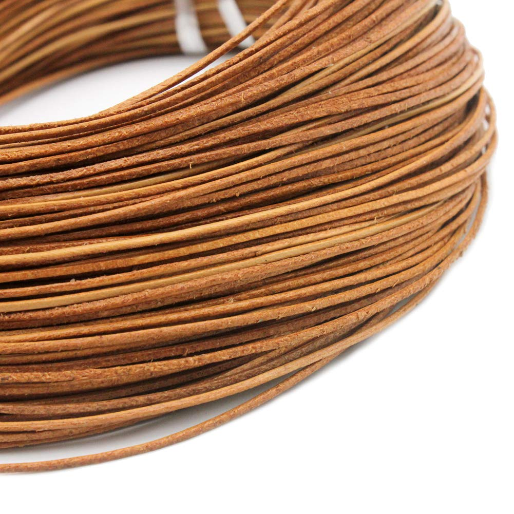 15 Yards 2mm Round Leather Cord Bracelet Necklace Leather Strap Metalic Olive Green