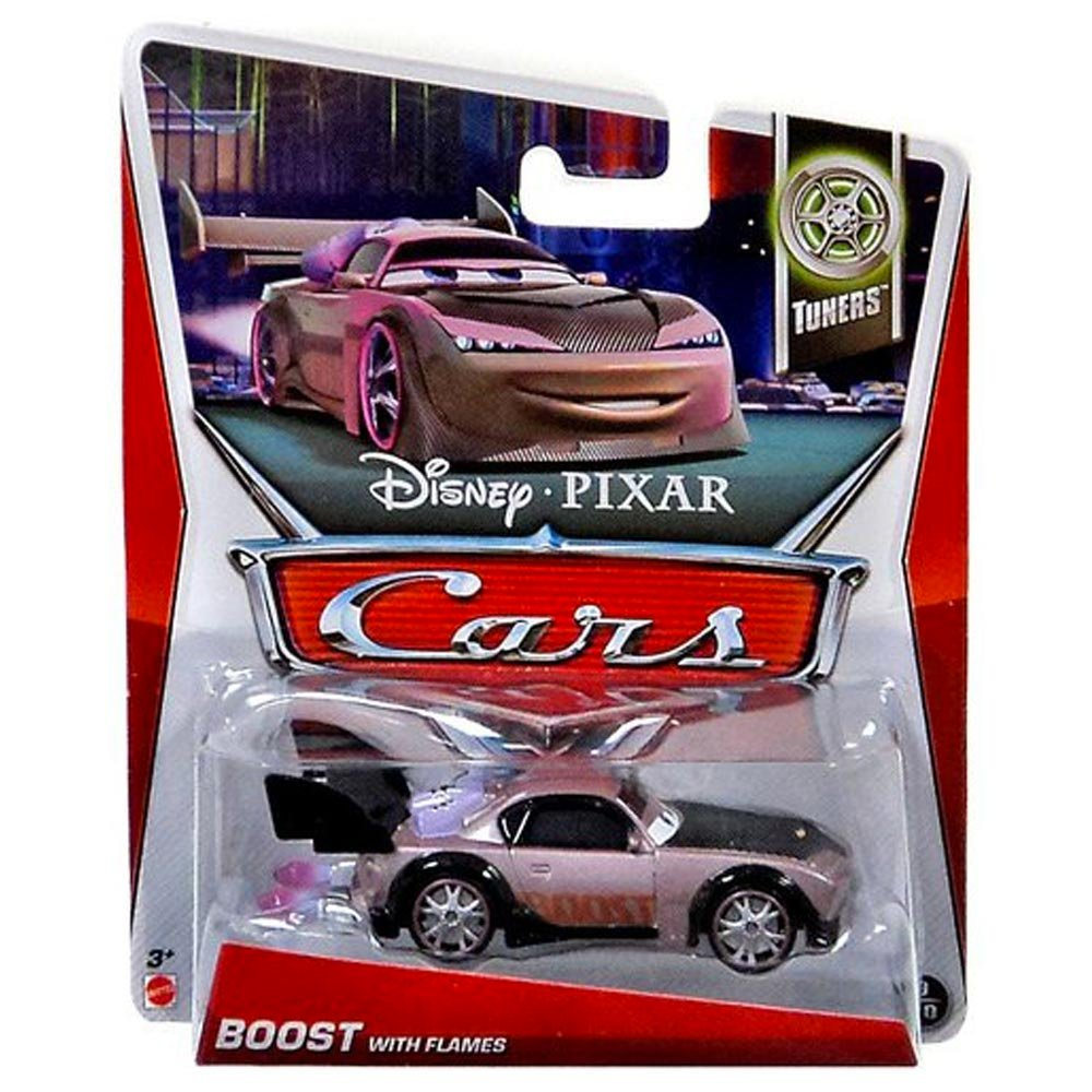 Amazon com disney pixar cars tuners die cast boost with flames 9 10 1 55 scale toys games
