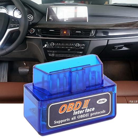 maistore Mini ELM327 OBD2 OBDII Bluetooth coche de diagnóstico auto interfaz escáner herramienta: Amazon.es: Coche y moto