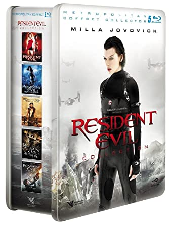 Amazon Com Resident Evil Collection Coffret 5 Films Blu Ray Coffret Metal Edition Limitee Movies Tv