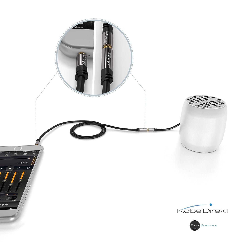 KabelDirekt 3m Klinken - Verlängerungskabel: Amazon.de: Elektronik