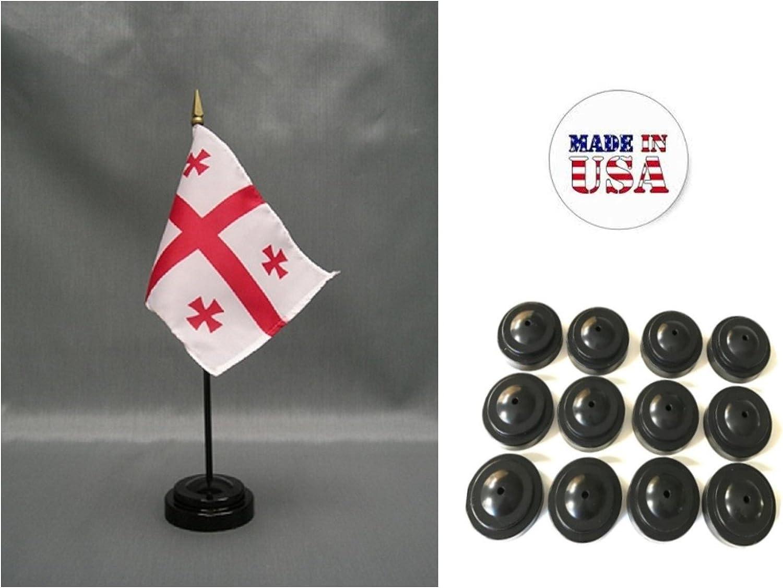 "Georgia Country 4/""x6/"" Flag Desk Table Stick"