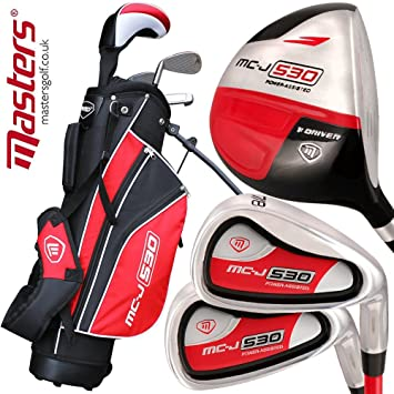 Masters Golf - Junior MC-J 530 Half Set Age 9-12 Rh Black ...