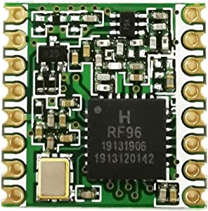 Sunhokey RFM95W 868Mhz/915Mhz, LoRa Ultra Long Range Transceiver, Wireless Transceiver Module, SX1276 Compatible, Supply Technical Support (Green-RFM95W 915Mhz)