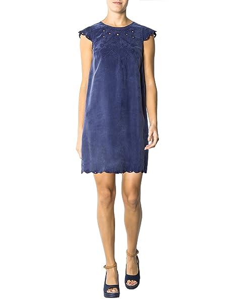b8dbf1f2d84562 KOOKAI Damen Kleid Viskose Dress Unifarben