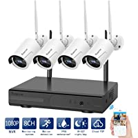 Rraycom 8-Ch. 4-Camera Indoor/Outdoor HD wireless Security Camera System