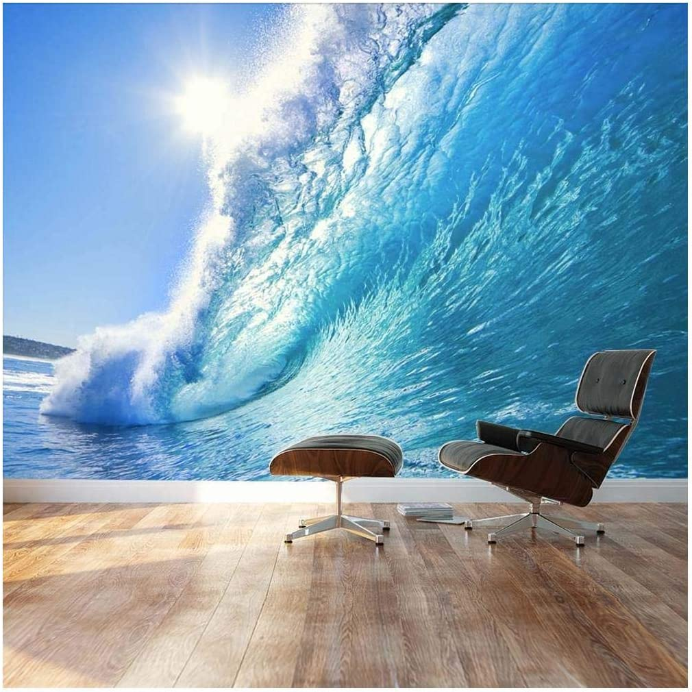 Wall26 - Clear Ocean Wave and Dream Surfing Destination - Landscape - Wall Mural, Removable Sticker, Home Decor - 100x144 inches