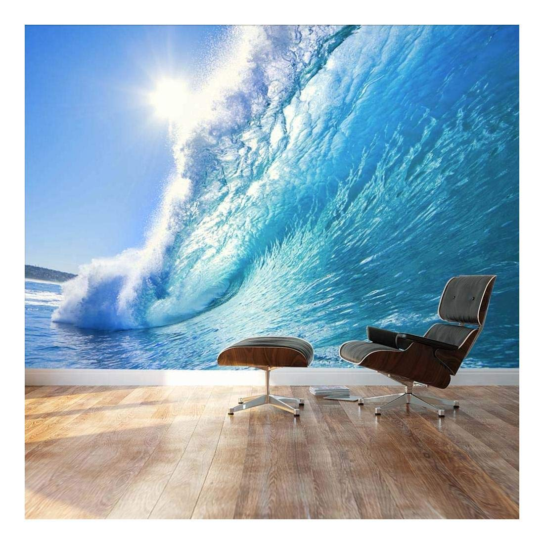 wall26 - Clear Ocean Wave and Dream Surfing Destination - Landscape - Wall Mural, Removable Sticker, Home Decor - 100x144 inches by wall26 (Image #1)