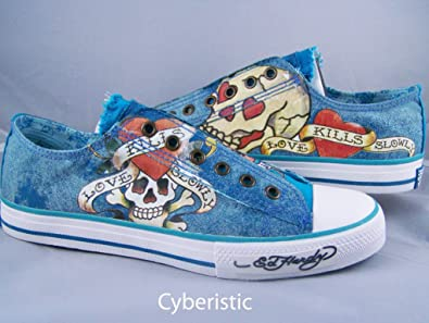 Navy Blue Love Kills Slowly Shoes Size