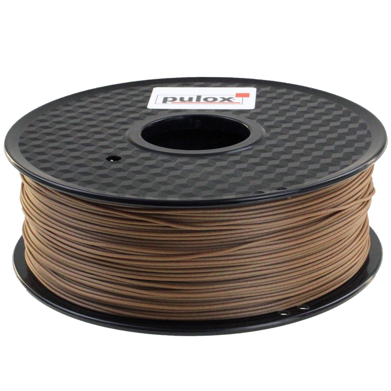 Pulox Wood 3D Drucker Filament 1kg, 1.75mm