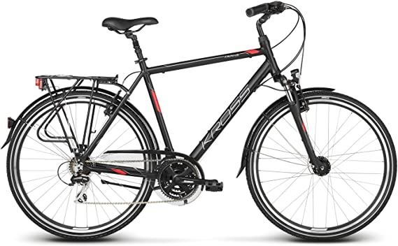 Kross Bicicleta Trans 3.0, Black Red 28 : Amazon.es: Deportes y ...