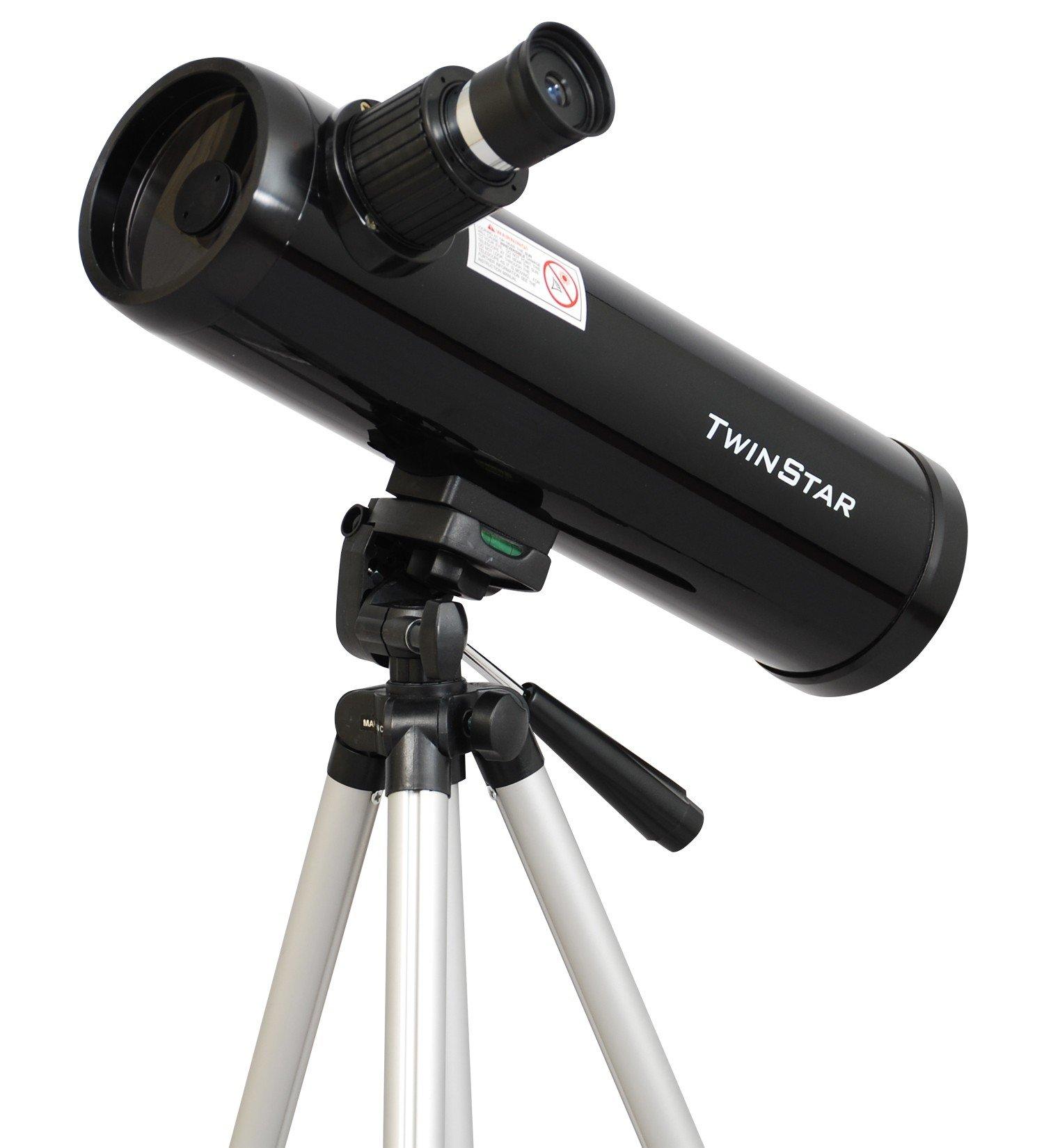 Black Twinstar 76mm Compact Kids Cassegrain Telescope
