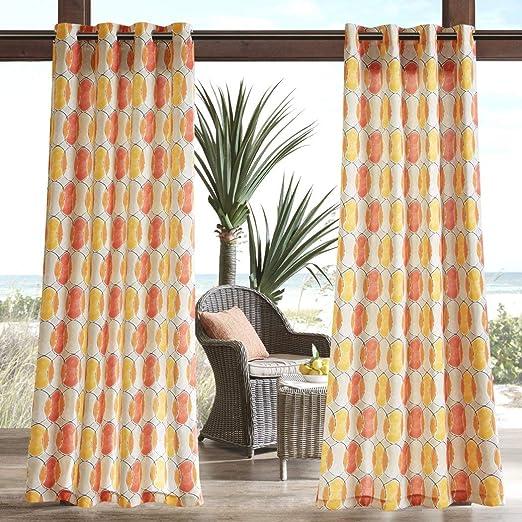 1Pieza 84 naranja Fun círculos Gazebo cortina solo Panel ...