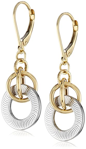 dangles tone dp jewelry com two gold dangle earrings amazon